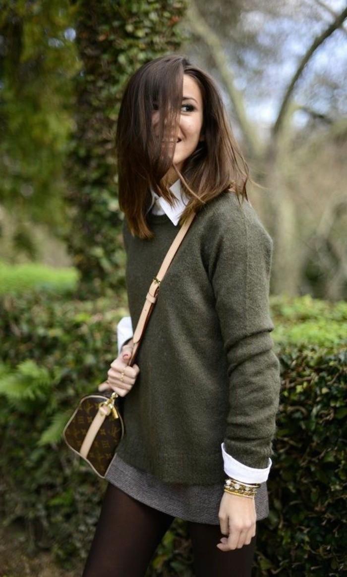 Belle-tenue-pull-jacquard-femme-mignon-cool-idée-tenue