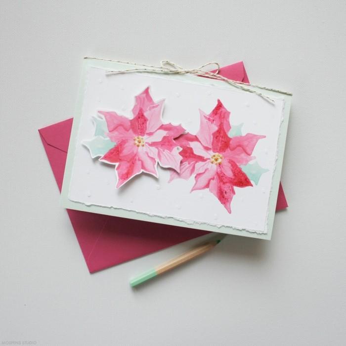 Cool-cartes-de-noel-gratuities-carte-de-voeux-noel-carte-de-noel-a-fabriquer-étoile-de-noel-fleur