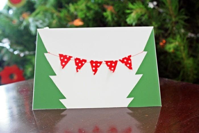 Cool-cartes-de-noel-gratuities-carte-de-voeux-noel-vert-et-blanc-fabrique