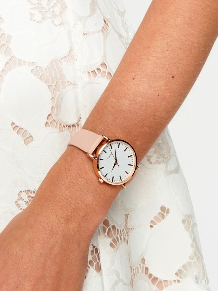 Cool-montre-femme-blanche-rose-doré-rose-michel-kors