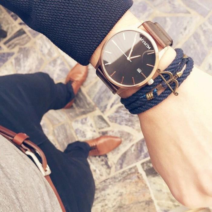 Cool-montre-femme-doré-rosw--mvmth-montre-noir-idée-homme