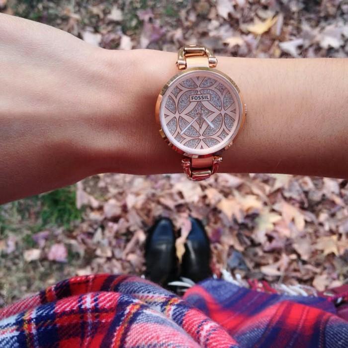 Cool-montre-femme-fossil-doré-rose-michel-kors-montre