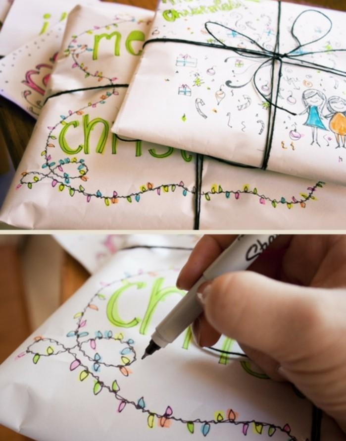 Cool-papier-cadeau-personnalisé-noeud-cadeau-le-papier-cadeau-noel-diy