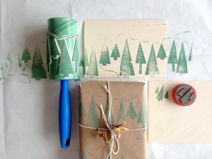 Cool-papier-cadeau-personnalisé-noeud-cadeau-papier-cadeau-original-sapin-de-noel