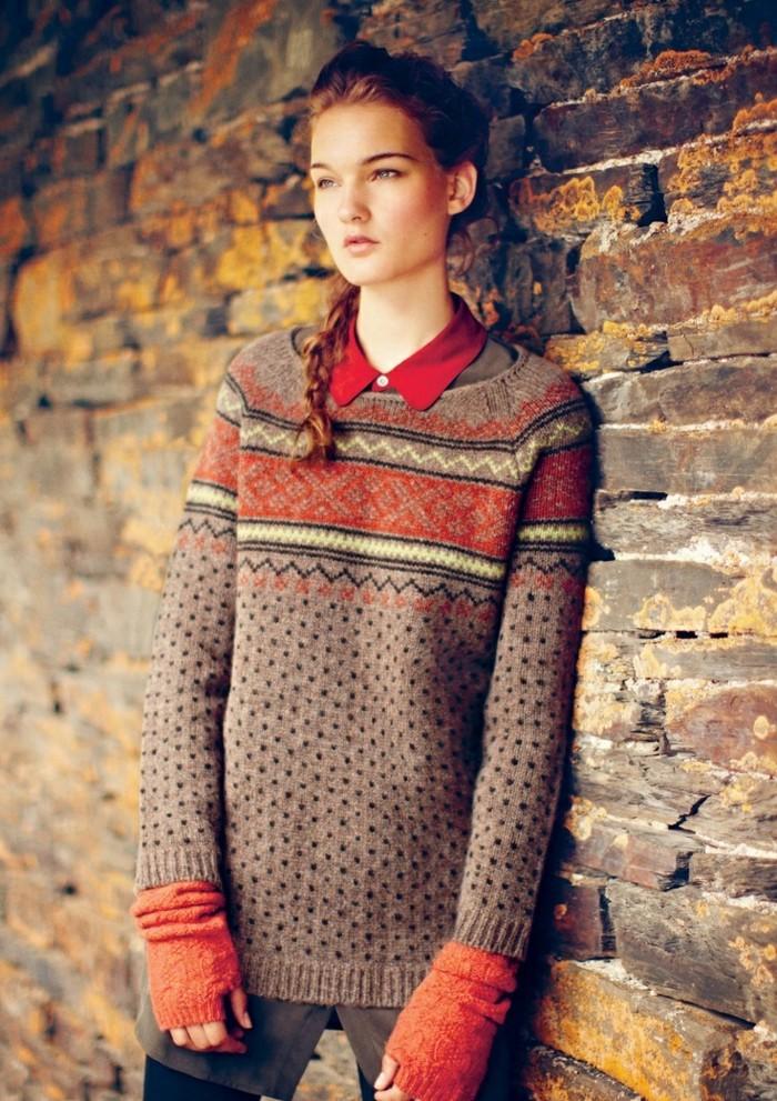 Cool-pull-jacquard-norvégien-femme-Belle-tenue-en-tendance