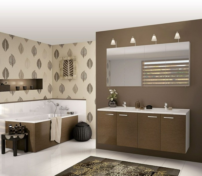 Déco-intérieur-papier-peint-pour-salle-de-bain-papier-peint-gris
