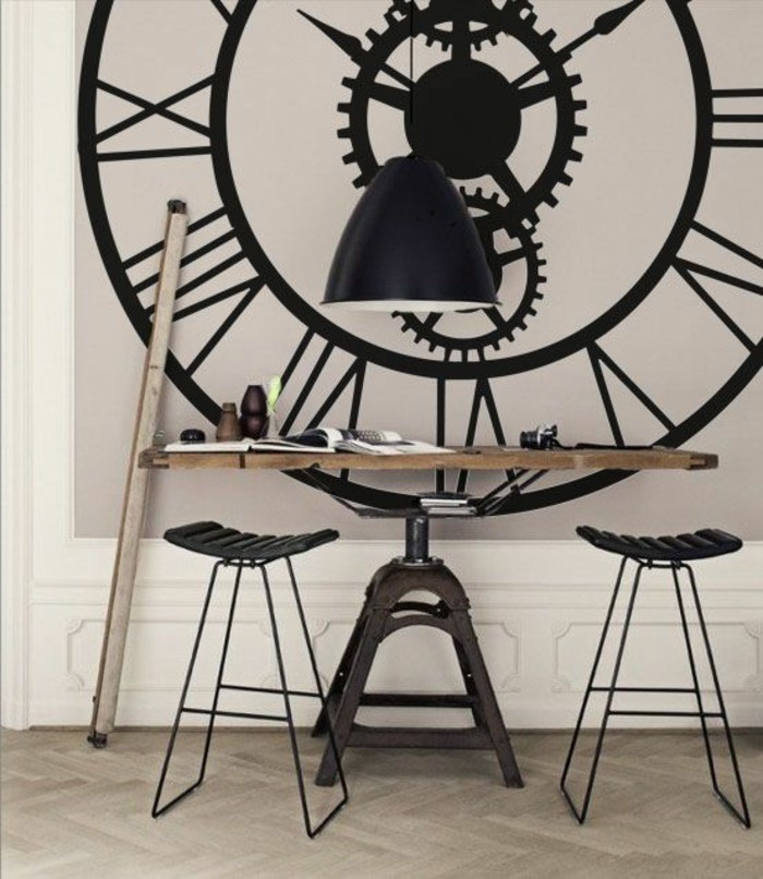 horloge g ante murale maison du monde id e. Black Bedroom Furniture Sets. Home Design Ideas