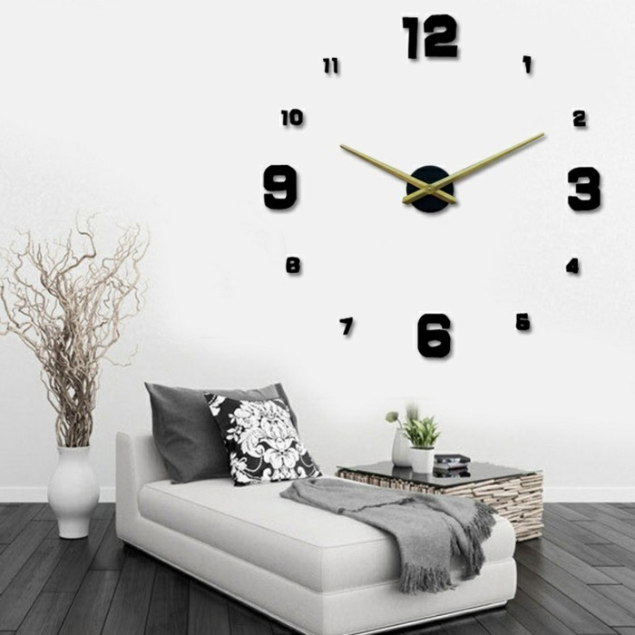 45 id es pour le plus cool horloge g ante murale - Horloge moderne cuisine ...