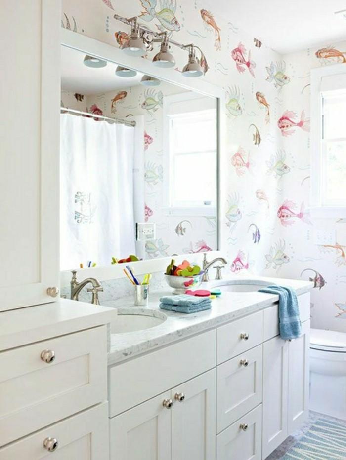 Design-papier-peint-pour-salle-de-bains-cool-idée-poissons