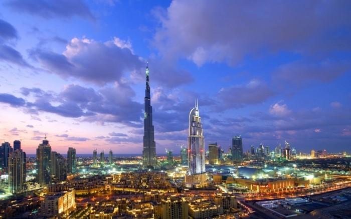 Dubai-Burj-al-Khalifa-belle-image-dubai-nuit-visité-capitales européennes à visiter