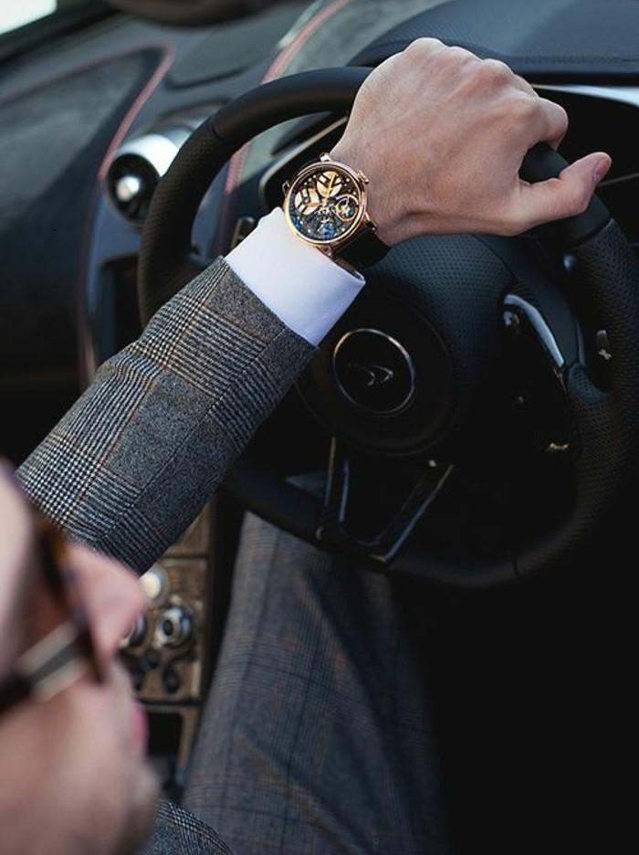 Idée-tenue-montre-fossil-rose-doré-montre-quantieme-homme-joli-coutume