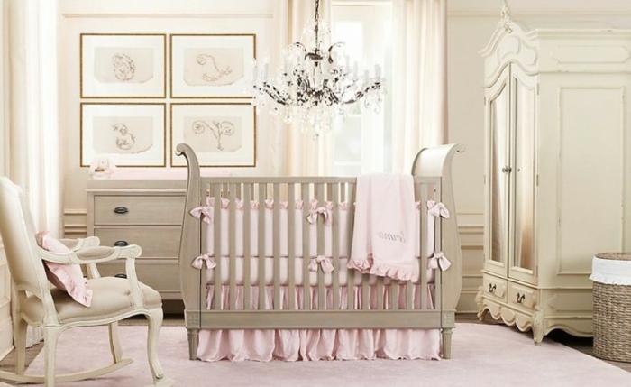 Le-lustre-chambre-bebe-idée-mignon-chandelier-blanc