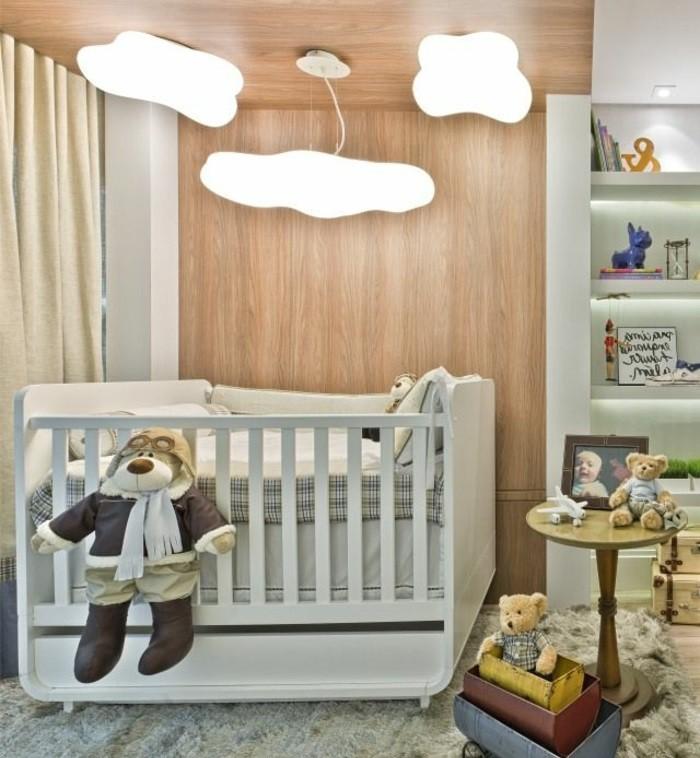 Le-lustre-chambre-bebe-idée-mignon-chandelier-nuage