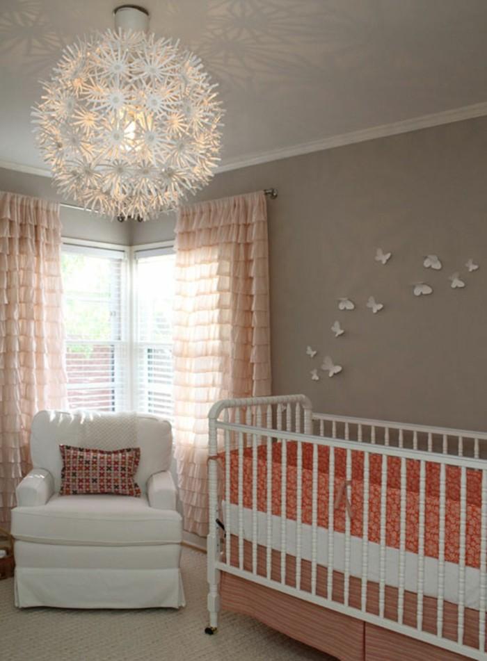 Le-lustre-chambre-bebe-idée-mignon-chandelier-ronde