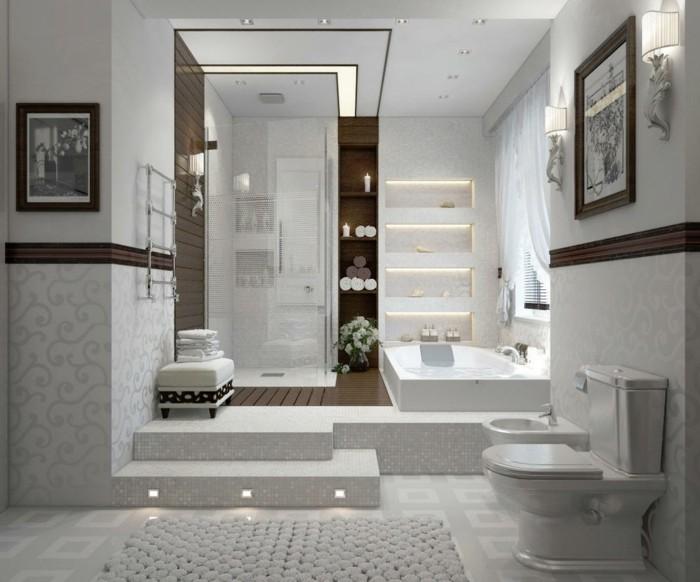 papier peint pour salle de bain 45 idees magnifiques With salle de bain design avec décoration d intérieur formation