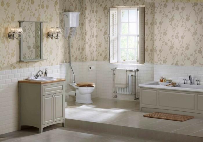 Papier peint pour salle de bain 45 id es magnifiques for Papier peint salle de bain