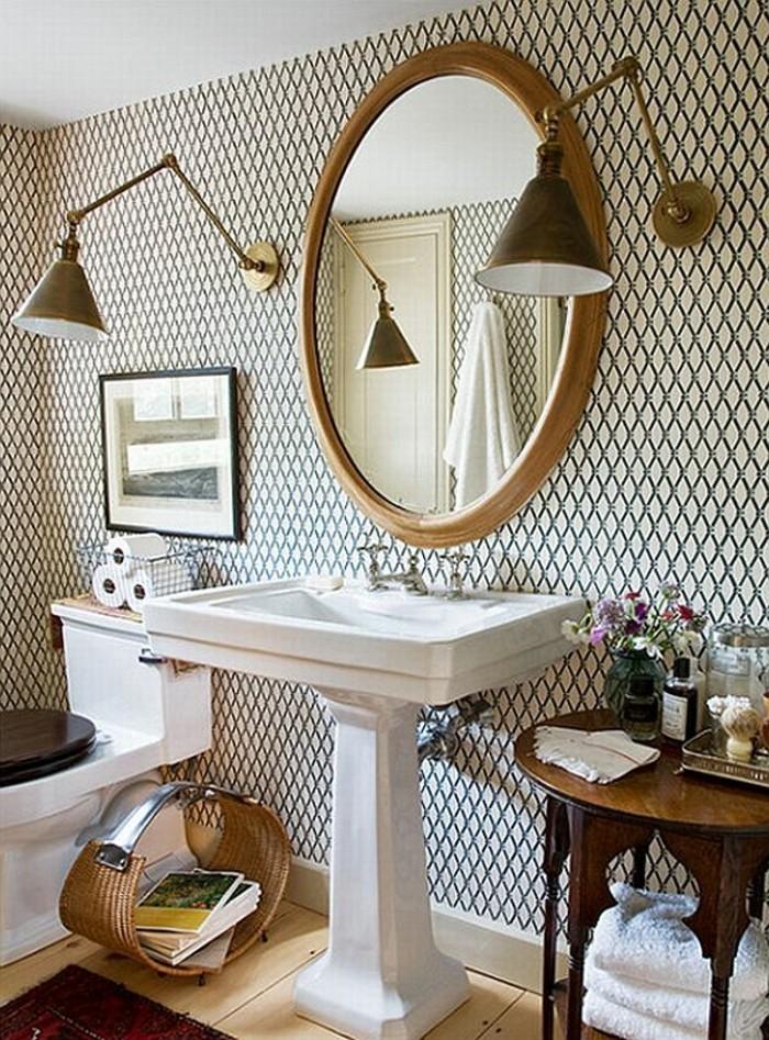 Papier peint pour salle de bain 45 id es magnifiques - Papier peint salle de bain pas cher ...