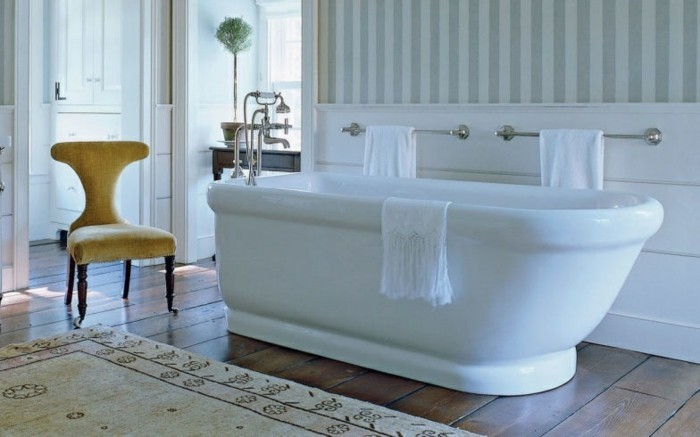 beautiful salle de bain vintage bleu contemporary. Black Bedroom Furniture Sets. Home Design Ideas