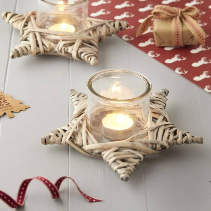 Stars-superbes-bougies-de-noel-images-jolies-beauté-des-fêtes-magiques-joie