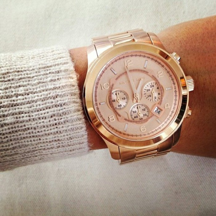 Tendance-montre-guess-doré-rose-montre-michael-kors-or-rose-michel-kors