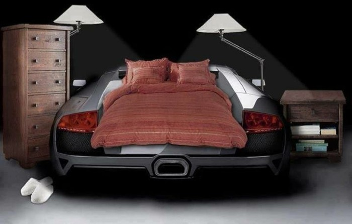 aménagement-lits-voiture-garcon-lit-cars-voiture-lit-en-voiture-garçon-chambre-d-enfant-voiture-réel