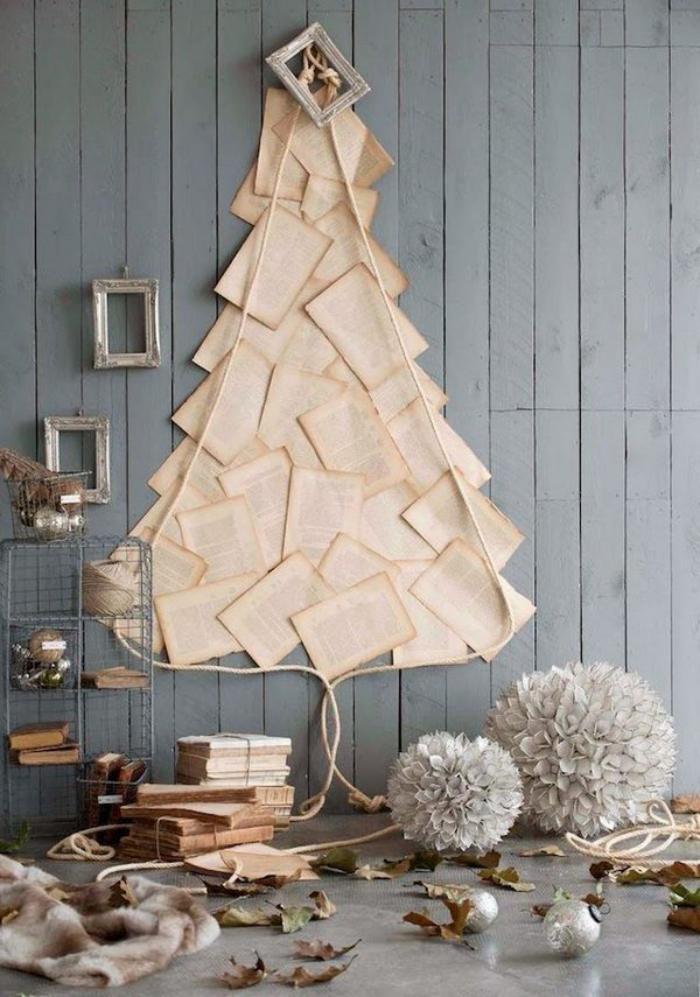 arbre-de-noel-fait-avec-les-pages-d'un-livre