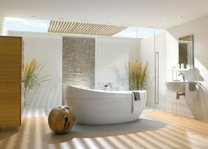 La baignoire ovale les meilleurs id es pour votre salle - Ambiance salle de bain zen ...
