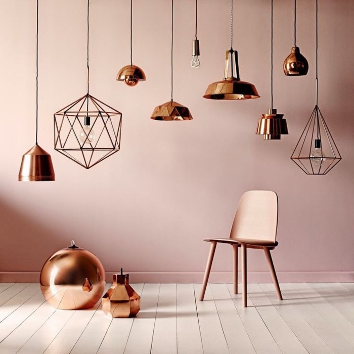 beau en rose gold ide salon design - Chambre Rose Gold