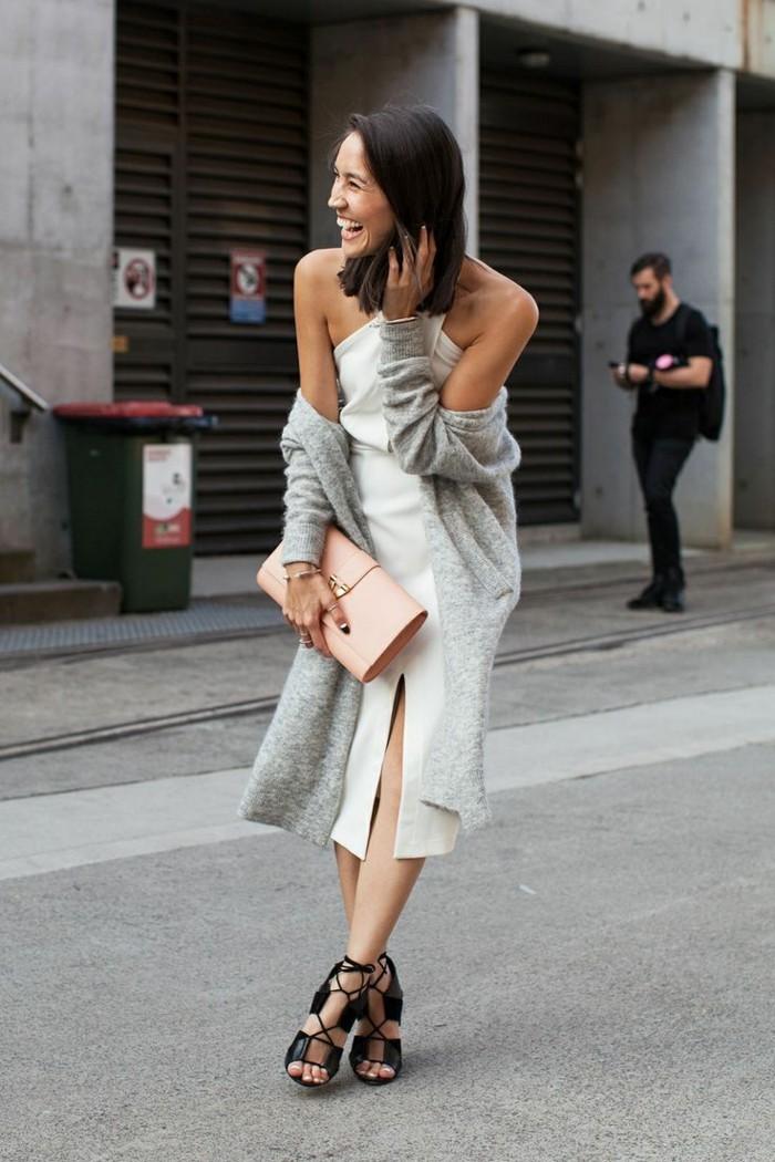 belle-idée-cardigan-mi-long-gilet-femme-long-tenue-chic-robe-blanche