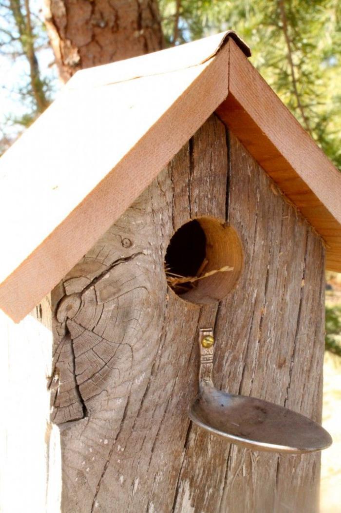 cabane oiseaux bois. Black Bedroom Furniture Sets. Home Design Ideas