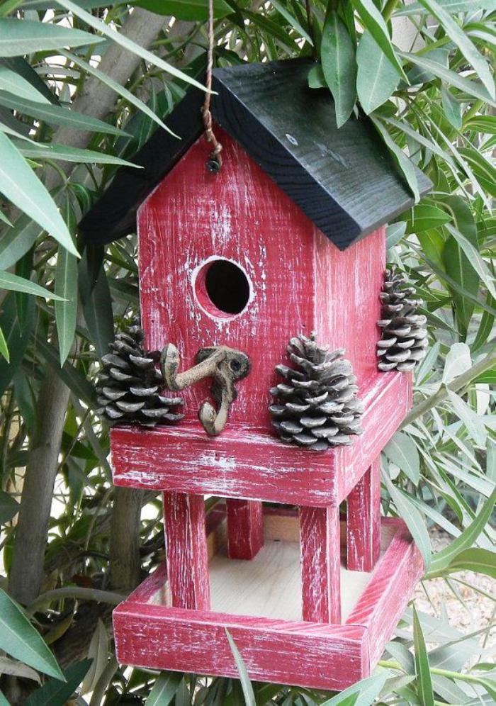 cabane-à-oiseaux-nichoir-et-mangeoir-pour-oiseaux