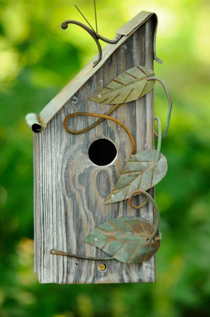 cabane-à-oiseaux-nichoir-oiseaux-toit-diagonal