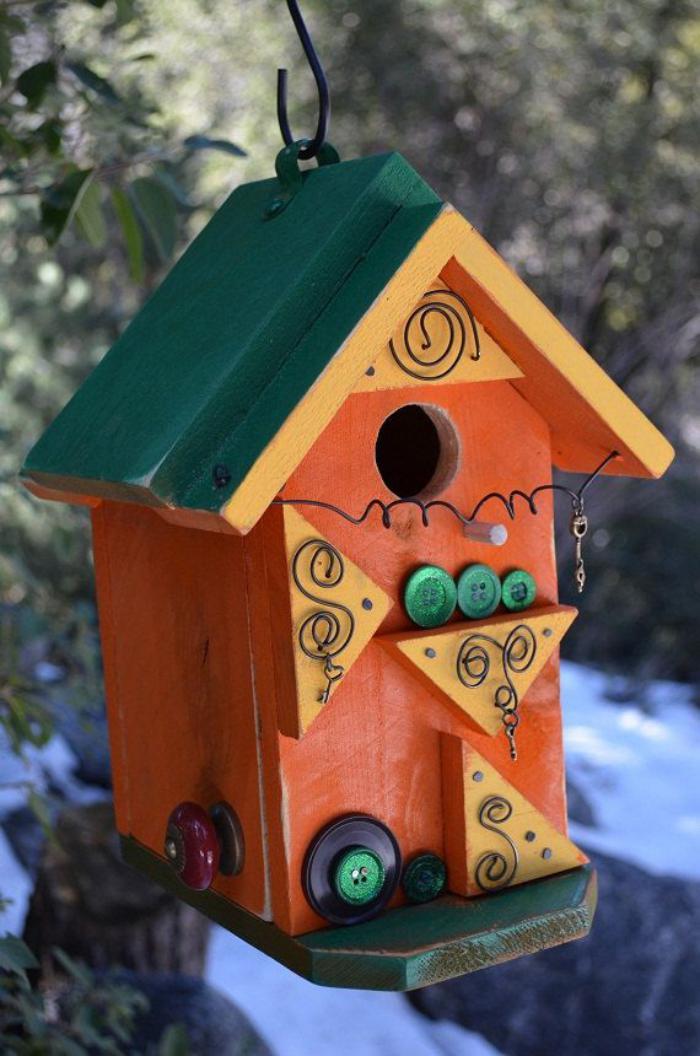 cabane-à-oiseaux-suspendue-maison-oiseaux-orange