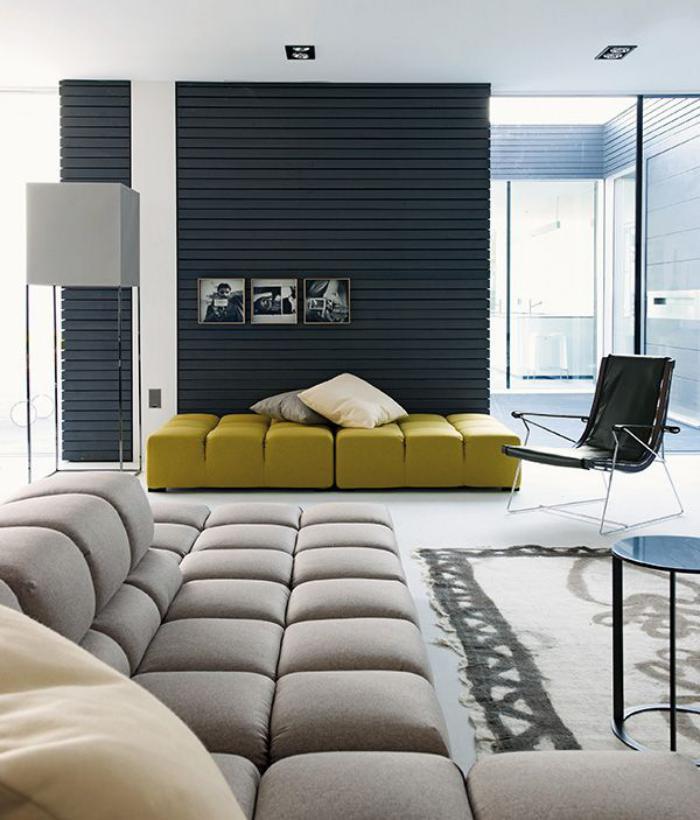 Salon Contemporain Beige: Petit salon moderne inspiration deco en ...