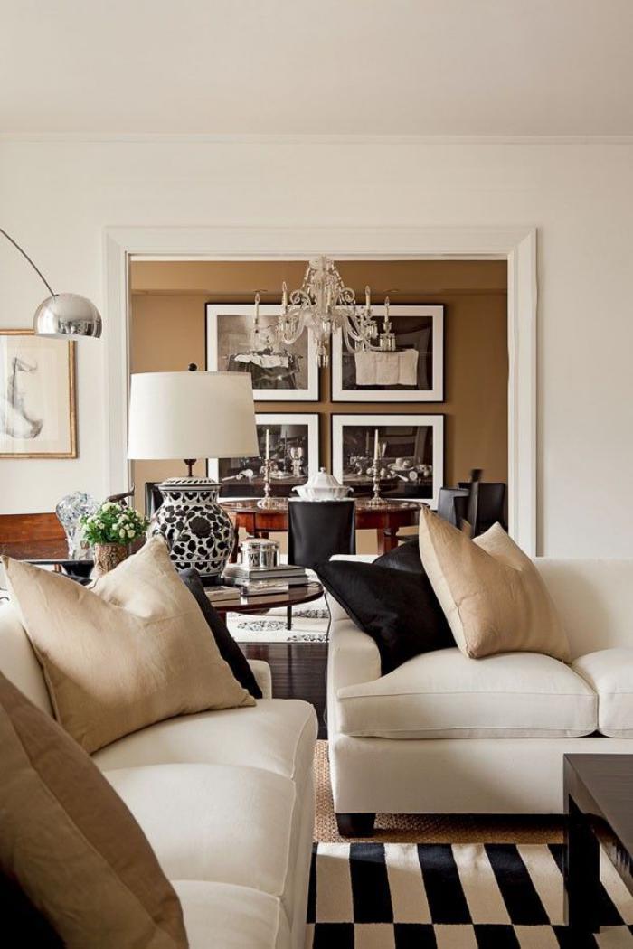 canapé-beige-meubles-beiges-et-déco-en-noir-et-blanc