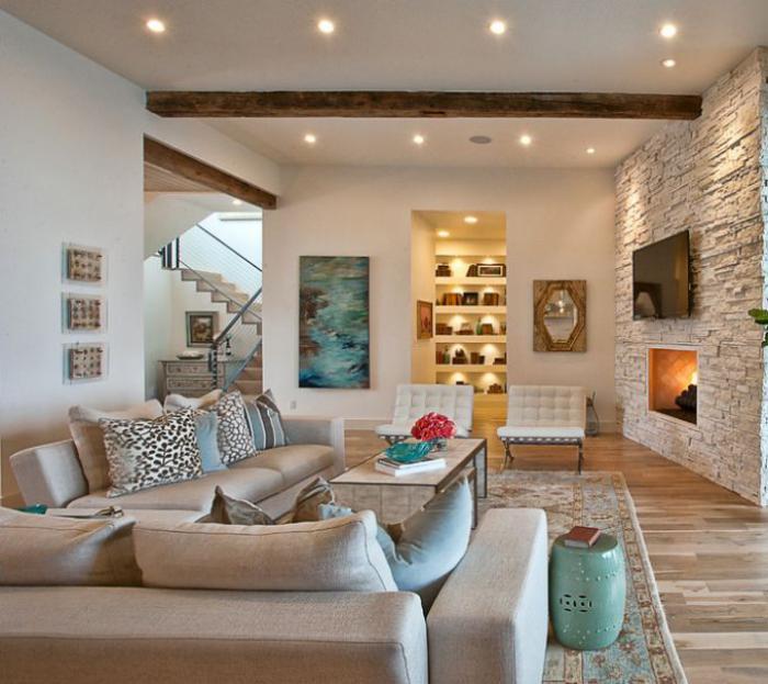 le canap beige meuble classique pour le salon