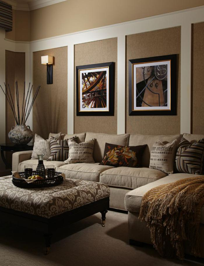 photo salon beige et taupe pr l vement d 39 chantillons et une bonne id e de. Black Bedroom Furniture Sets. Home Design Ideas
