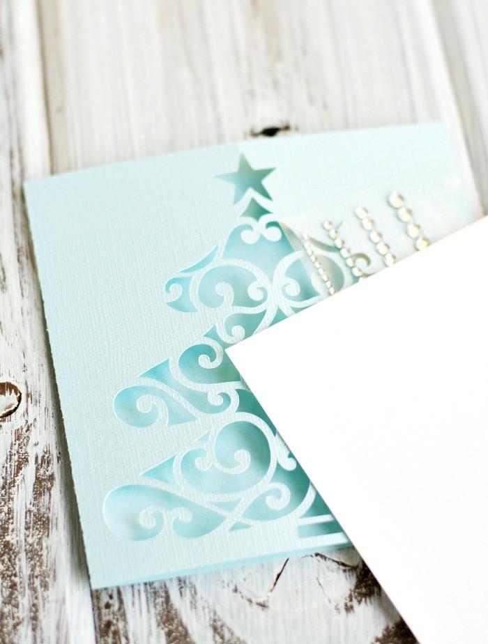 carte-joyeux-noel-jolies-cartes-pour-Noël-aigue-marine-bleu-de-neige