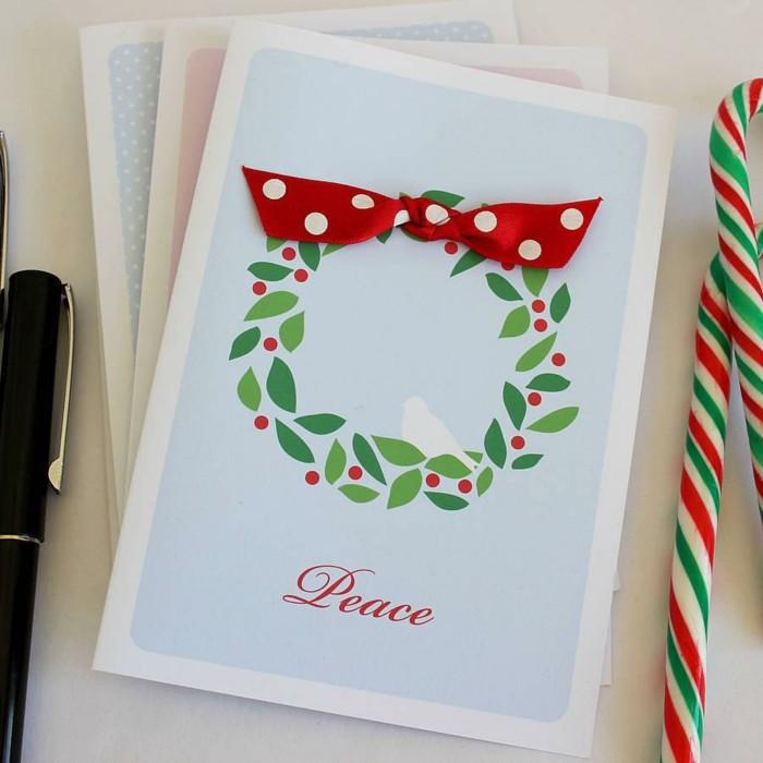 cartes-noel-carte-à-imprimer-gratuite-idée-cool-peace-pace