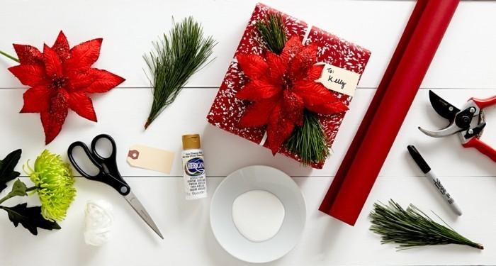 charmant-papier-cadeau-personnalisé-noeud-cadeau-emballage-cadeau-diy