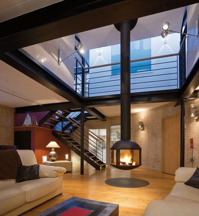 cheminée-focus-cheminée-suspendue-cheminées-design-escalier-loft