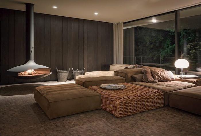 cheminée-focus-salon-marron-design