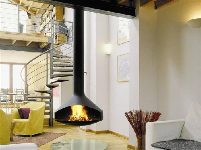 cheminée-focus-suspendue-loft-contemporain