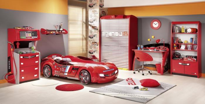 cher-conforama-voiture-lit-enfant-pas-chambre-enfant-déco-automobile-rouge