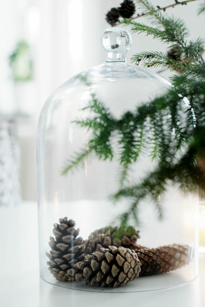 cloche-en-verre-comment-decorer-pour-noel-jolie-decoration-en-verre-elegante-decoration