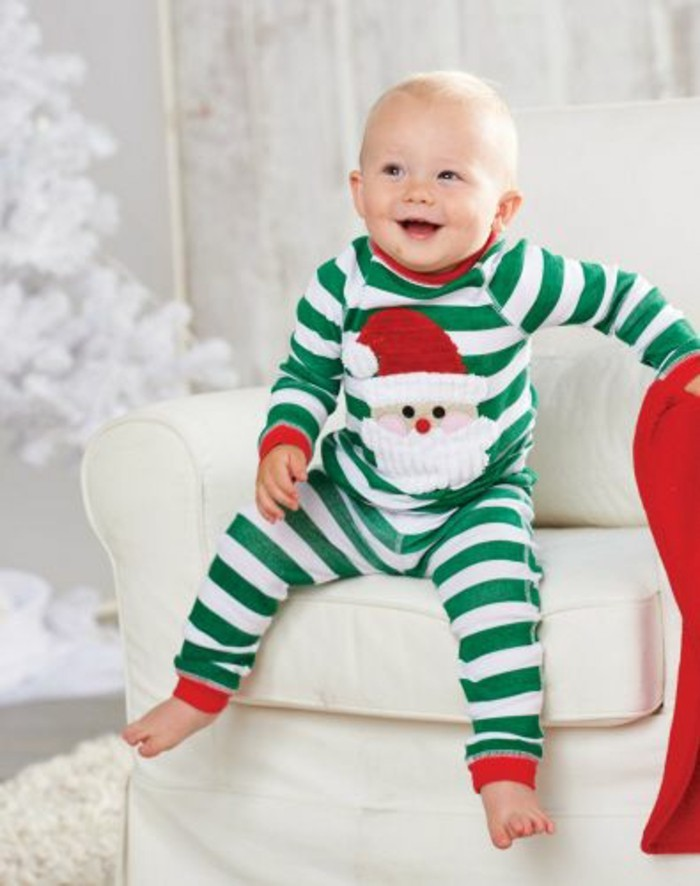 combinaison-bebe-grenouillère-bébé-dors-bien-papa-noel-pyjama-festive