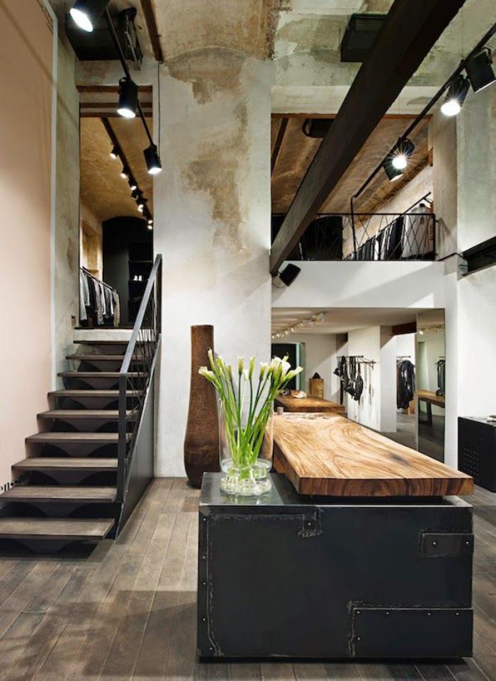 comptoir-en-bois-recyclé-top-de-comptoir-en-bois-clair