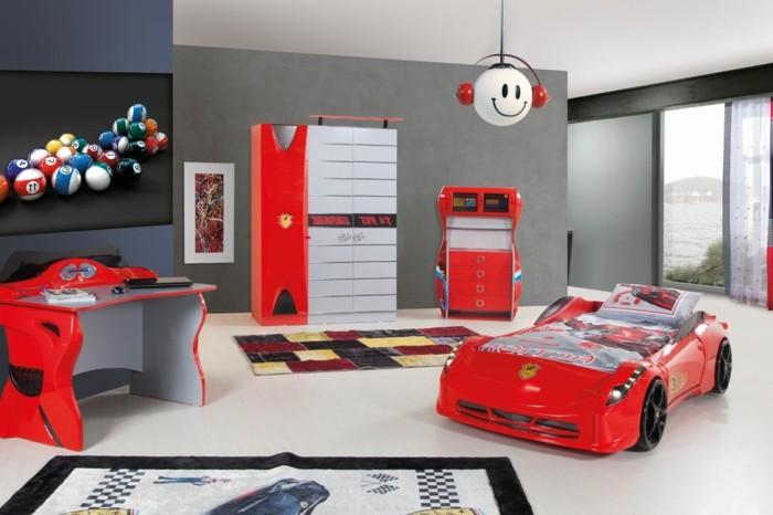 cool-idée-pour-le-lit-voiture-formule-1-lit-chambre-enfant-ferrari-rouge