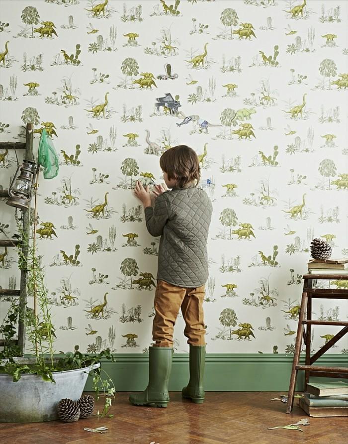 cool-idee-papiers-peints-vintage-belle-décoration-cosy-retro-floral-print
