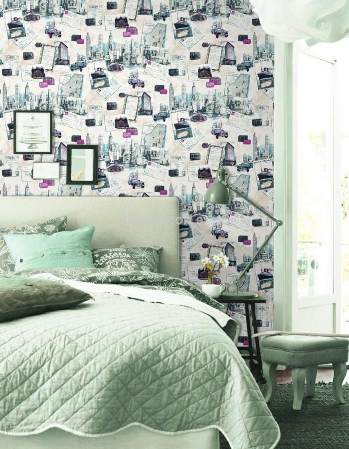 cool-idee-papiers-peints-vintage-décoration-cosy-retro-londres